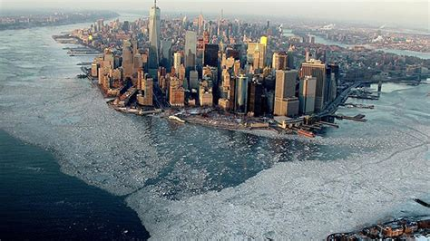 is right now an aerial photograph shows just how cold new