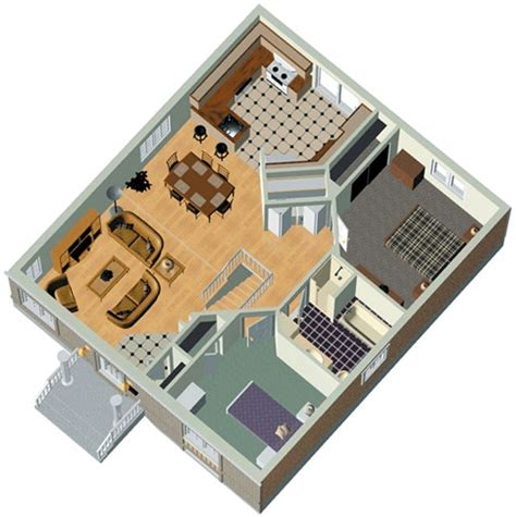 free 3d floor plans two bedrooms 85m2 house plan 3d home plans included