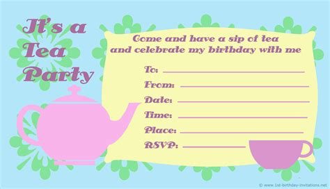 printable children s party invitations free kids birthday party invitations free printable 1st