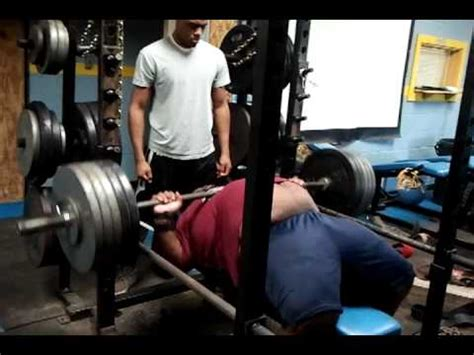10 sets of 10 bench press robert wilkerson bench press raw 505 x 10 reps youtube