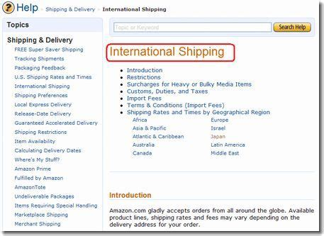 amazon international shipping キャンプへgo