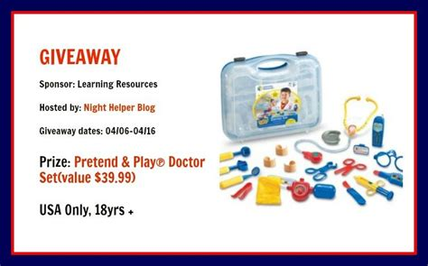 Play Set Tom S pretend play doctor set giveaway tom s take on things
