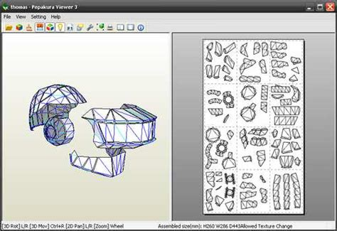 Papercraft Viewer - aportando ando papercraft de