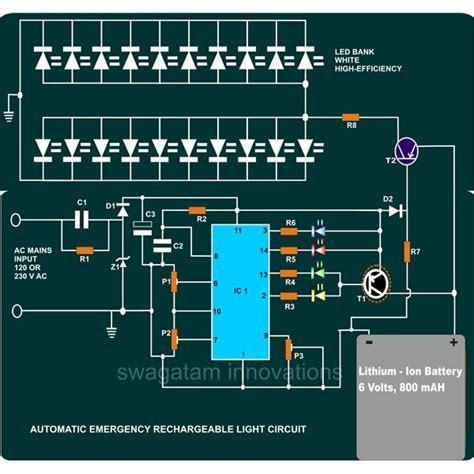 Rechargeable Led L Circuit Diagram by How To Build A Portable Led Emergency Rechargeable Light