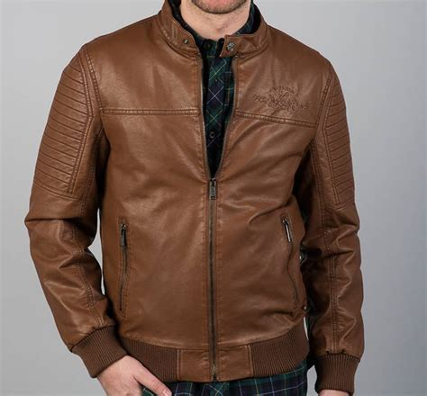 chaqueta de cuero marron chaqueta piel sint 233 tica hombre lois marr 243 n moda hombre