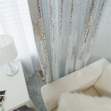 sequin curtain panel silver sequins sparkly curtain drapery panel