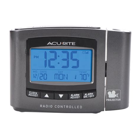 acurite 13239 atomic projection clock with indoor temperature ebay