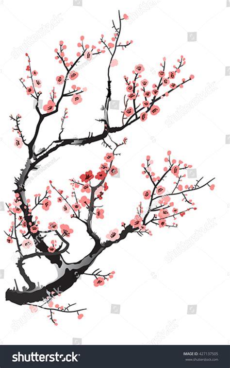 cherry tree vector cherry tree stock vector 427137505
