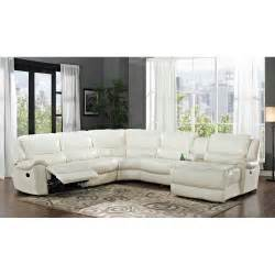 Recliner Sofa Online Hamilton White Leather Match 6 Piece Reclining Sectional