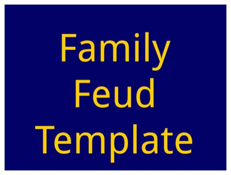 powerpoint family feud template free family feud powerpoint template for excel pdf and word