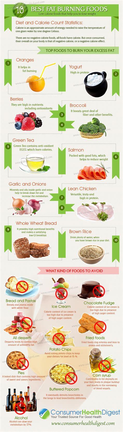 top 10 foods 10 best burning foods infographic