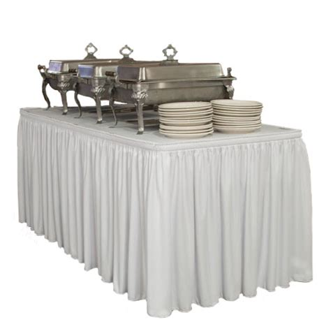 shirred pleat table skirting pleated table skirt