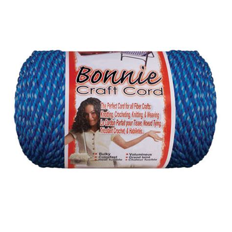 Bonnie Macrame Craft Cord 6mm - bonnie macrame craft cord blueberry blue 6mm x 100 yards