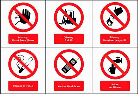 Stiker Tanda Dilarang Masuk patuhi tanda keselamatan di area kerja integrated