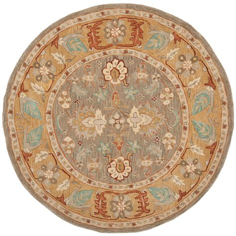 6ft circular rugs safavieh anatolia brown camel 6 ft x 6 ft area rug an577a 6r the home depot