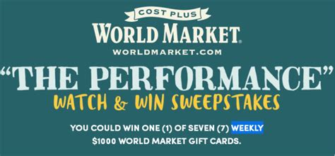 Watch And Win Sweepstakes - the performance watch and win sweepstakes win 1000 gift card