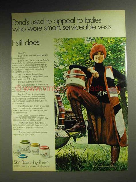 Vintage Appeal From Vintage A Peel by 1970 Pond S Skin Basics Ad Appeal To