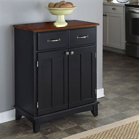 kitchen servers furniture furniture black buffet server with cherry wood top 5001 0042