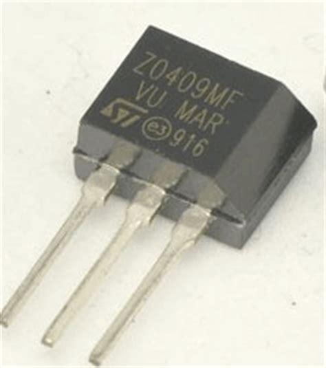 transistor z0409mf zo409mf datasheet z0409mf 4a triac stmicroelectronics