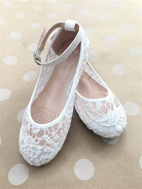 ballet flower shoes shoes flower shoes white lace ballet flats by