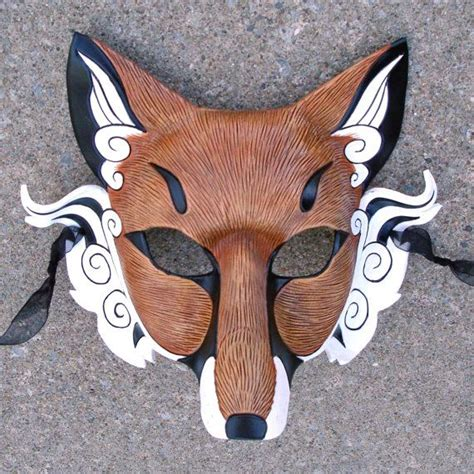 How To Make A Fox Mask Out Of Paper - 25 best ideas about japanese fox mask on