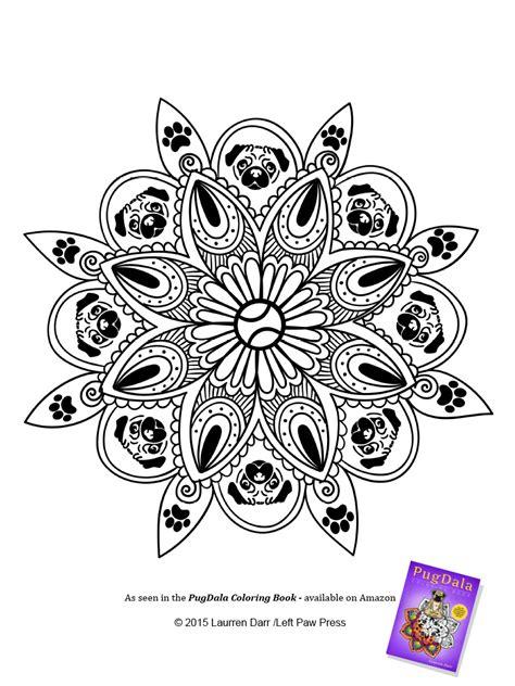 pug mandala pugdala coloring book released by left paw press left paw press prlog