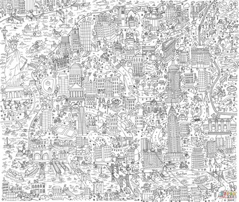 new york coloring book pages new york doodle coloring page free printable coloring pages