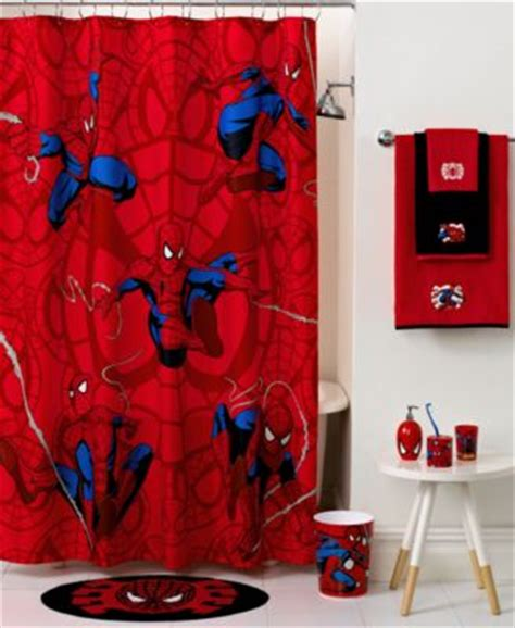 marvel bath accessories spiderman sense collection