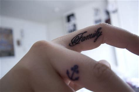 finger tattoo yes or no anchor cute family finger tattoo photo photography