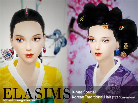 traditional hairstyles games lana cc finds elagamestudio sims 4 korean traditional