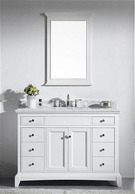 48 inch solid wood bathroom vanity eviva evvn709 48wh elite stamford 48 inch white solid wood