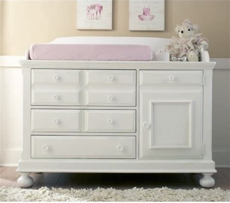 Changing Table And Dresser Combo Creations Baby Summers Evening Combo Dresser Rubbed White Traditional Changing Tables By