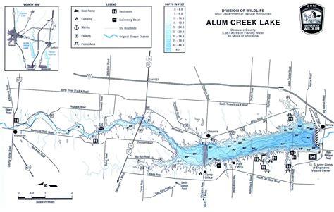caesar creek ohio boat rental alum creek fishing map central ohio gofishohio