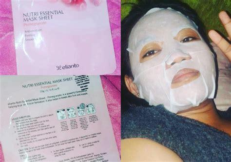 Review Masker Wajah masker wajah elianto nutri essential mask sheet