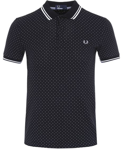 Fred Perry Slim Low fred perry black slim fit polka dot polo shirt jules b