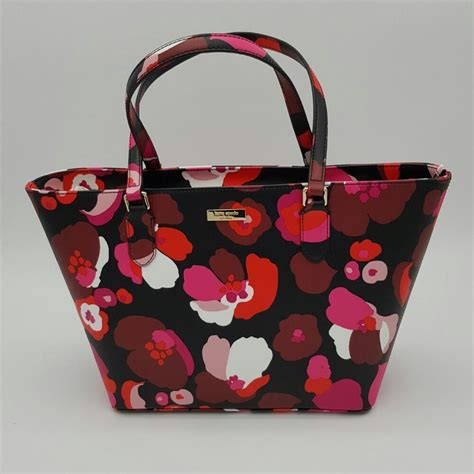 Secret Flower Totebag Looks Like Original kate spade laurel way floral tote bag and 50 similar items