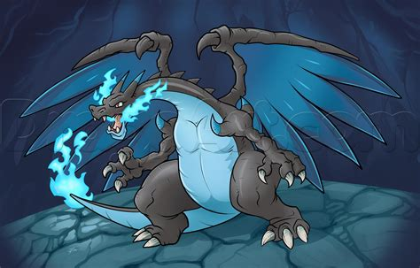 Charizard Y Drawing by How To Draw Mega Charizard X Step By Step Dragons Draw