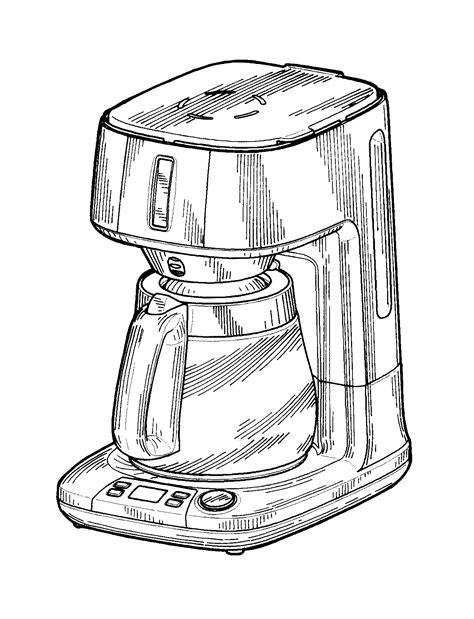 drawing maker patent usd628007 coffee maker patents