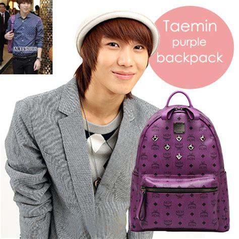 backpack mcm taemin shinee ungu