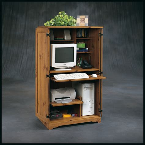 wood computer armoire furniture astonishing computer armoire cabinet to