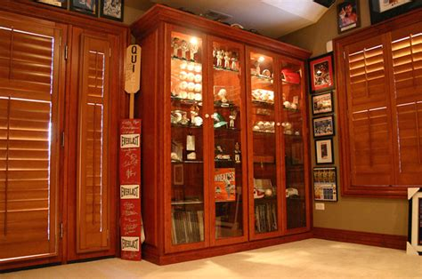 sports memorabilia display cabinets custom closet lighting chicago closets cabinets and