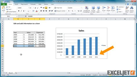 excel tutorial how to graph excel tutorial how to edit and add to chart data
