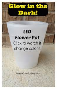 diy glow in the planters sweet and simple living