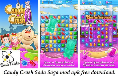 mod game fishing saga candy crush soda saga mod apk unlimited lives and boosters