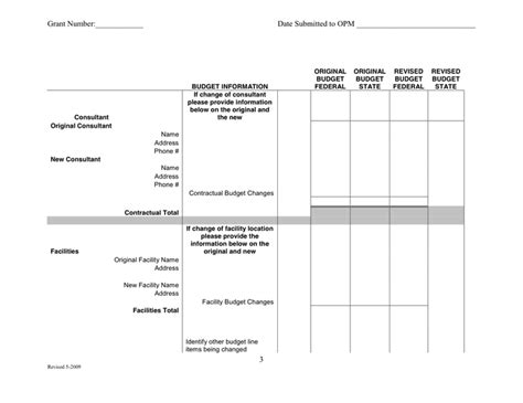 Federal Grant Template 25 Images Of Federal Line Item Budget Template Infovia Net
