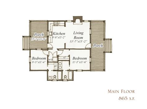 Our Town Plans Southern Living 2 Bedroom Guest House Plans