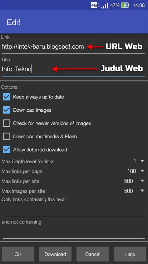 cara download video tanpa software android di cara mudah browsing tanpa koneksi internet di android