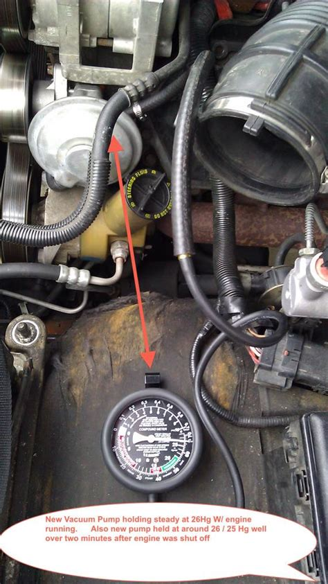 hard brake peddle    vacuum pump ford