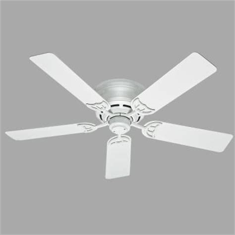 White Low Profile Ceiling Fan by Low Profile Iii 52 In Indoor White Ceiling Fan 53069
