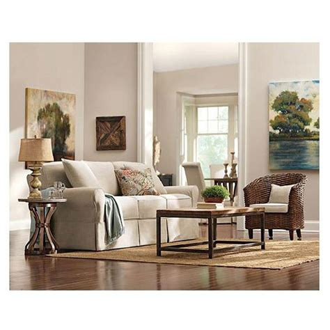 Home Decorators Collections Home Decorators Collection Mayfair Pearl Linen Fabric Sofa 1640010870 The Home Depot
